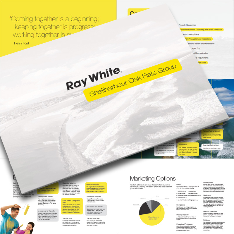 Grimmel. • graphic design & printing project for Ray White Shellharbour
